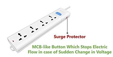 Bull 4 Sockets & 1 Switch Circuit Breaker 1.5 Meter Extension Board S104Z-15 HSN:8537