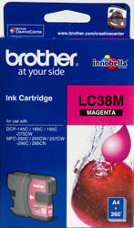 Brother LC38 Ink Cartridge, Magenta