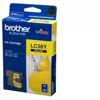 Brother LC38 Ink Cartridge, Yellow