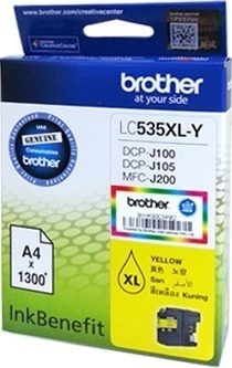 Brother LC535XL Ink Cartridge, Yellow