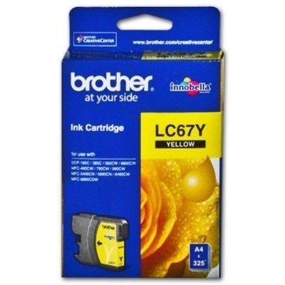 Brother LC67 Ink Cartridge, Yellow