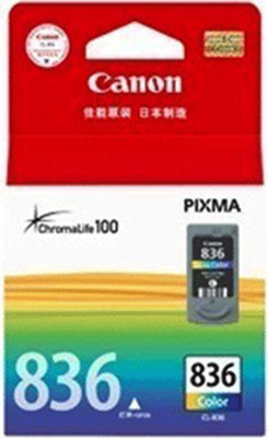 Canon 836 Ink Cartridge, Tri Color