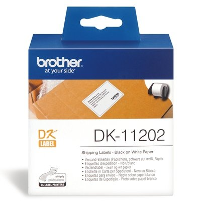 Brother DK11202 White Shipping Label Roll, 62mm X 100mm X 300pcs