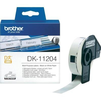 Brother DK11204 Multi Purpose Label, 17mm X 54mm X 400pcs