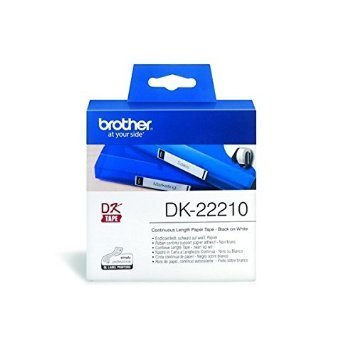 Brother DK22210 Continuous Length Paper Label, 29mm X 30.48m