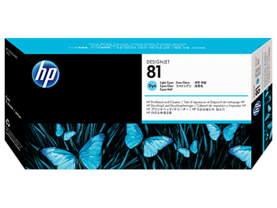 HP 81 Printhead, Light Cyan & Cleaner