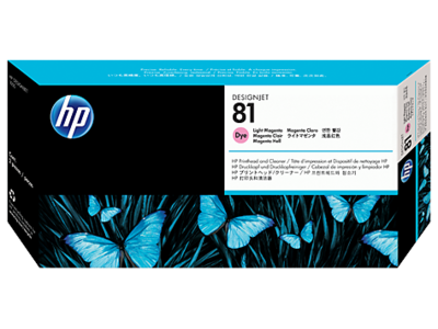 HP 81 Printhead, Light Magenta & Cleaner