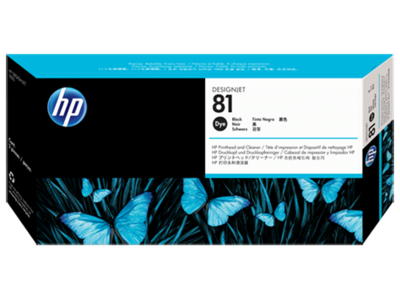 HP 81 Printhead, Black & Cleaner