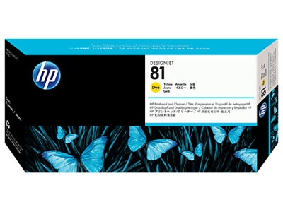 HP 81 Printhead, Yellow & Cleaner
