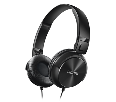Philips SHL3060 On-Ear DJ Style Monitoring Headphones, Black