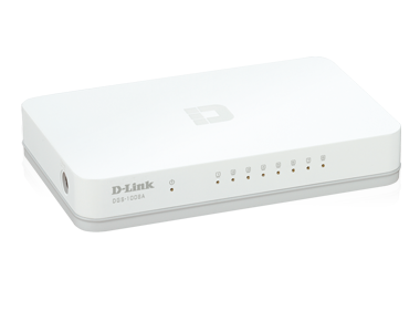 D-Link 8-Port 10/100Mbps Gigabit Easy Desktop Switch, DGS-1008A