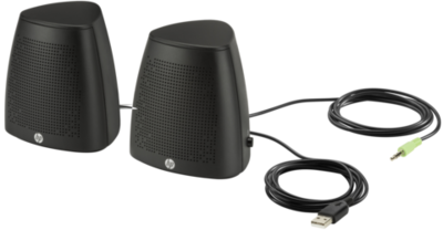 HP S3100 2.0 Speakers, Black