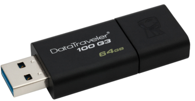 Kingston 64GB Pen Drive, 3.0, DT100