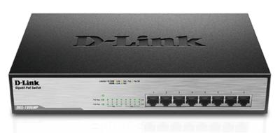 D-Link 8-Port 10/100/1000Mbps PoE Desktop Switch, DGS-1008MP