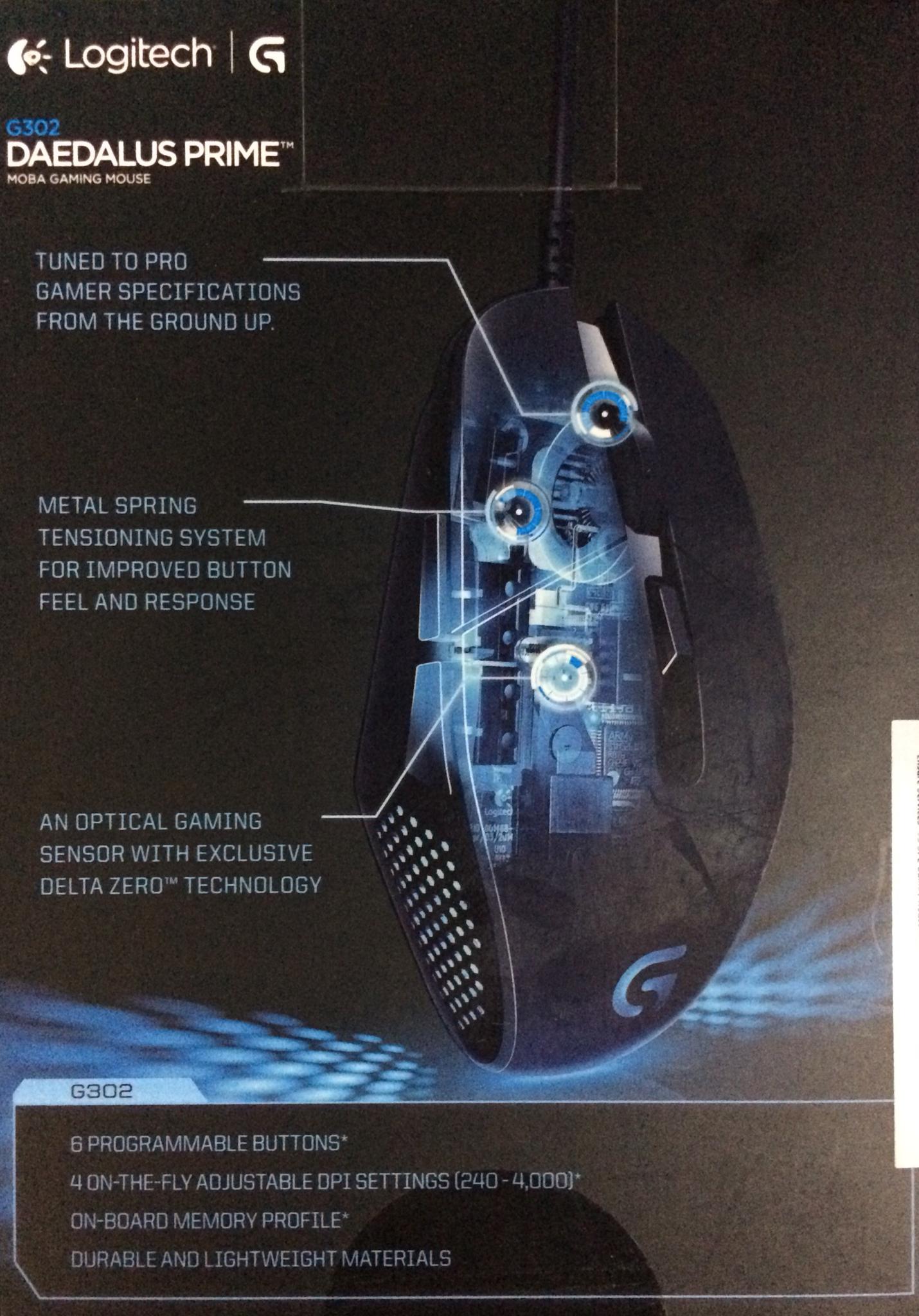 Logitech G302 Gaming Mouse 910004210 Usb B100 Original