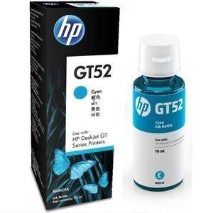 HP ink Bottle, GT 52, Cyan, 70ml