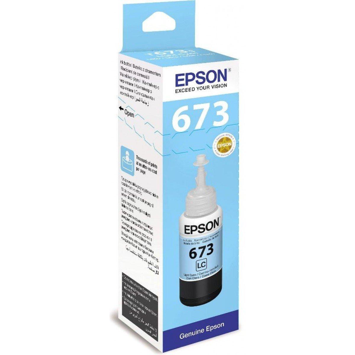Epson ink Bottle, 673, Light Cyan, 70ml, Rs 573
