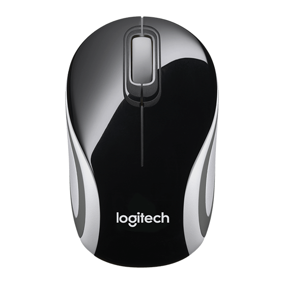 Logitech M187 Mini Wireless Mouse, Black