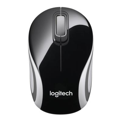 Logitech M187 Mini Wireless Mouse, Black