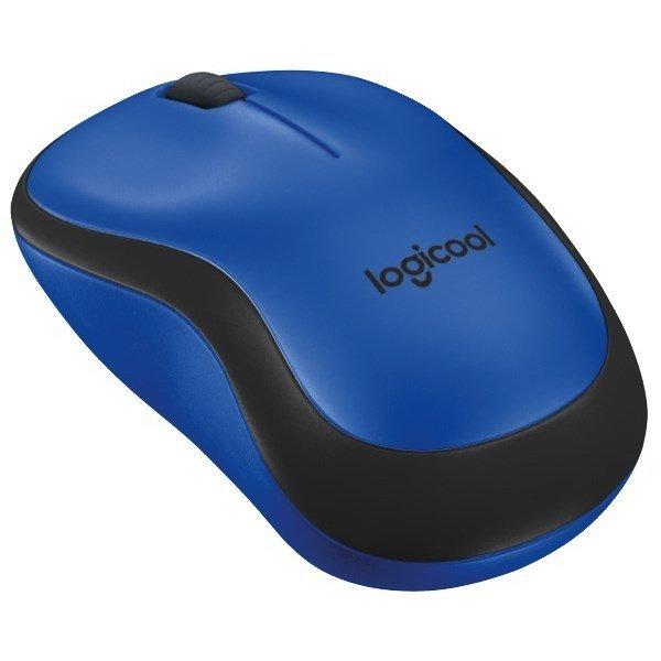 Logitech M221 Silent Wireless Mouse, Blue