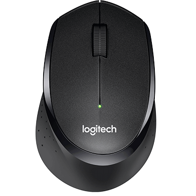 Logitech M331 Silent Plus Wireless Mouse, Black