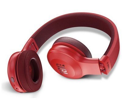 JBL E45BT Wireless Bluetooth On-Ear Headphones with Mic, Red