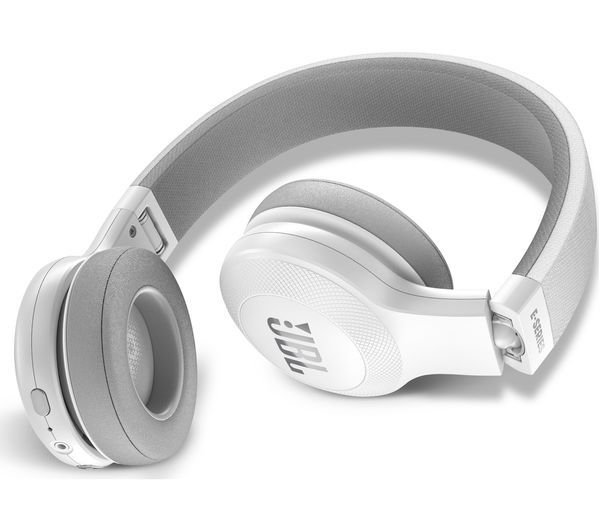 363f0199958 JBL E45BT Wireless Bluetooth On-Ear Headphones with Mic, White, Rs.4600