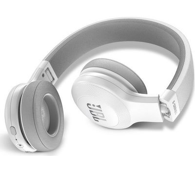 JBL E45BT Wireless Bluetooth On-Ear Headphones with Mic, White
