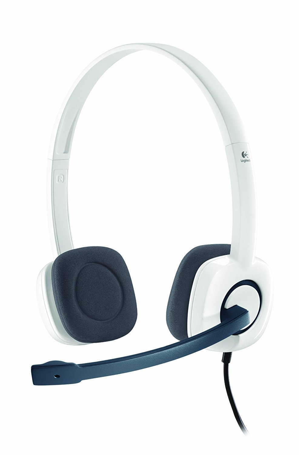 Logitech H150 Stereo Headset with Mic, White