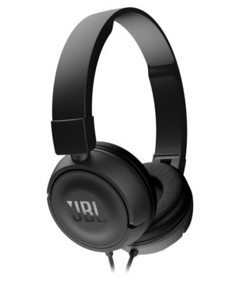 JBL T450 On-Ear Headphones with Mic, Black