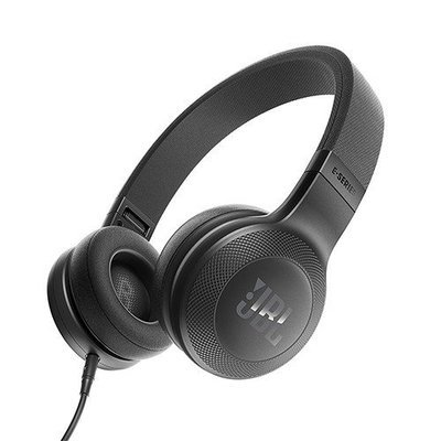 JBL E35 On-Ear Headphones with Mic, Black