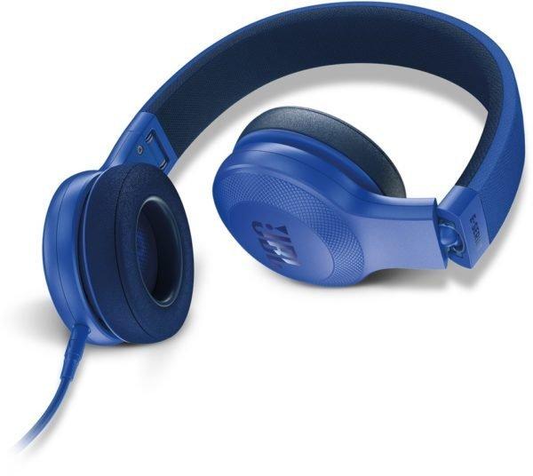 JBL E35 On-Ear Headphones with Mic, Blue