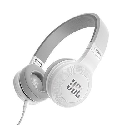 JBL E35 On-Ear Headphones with Mic, White