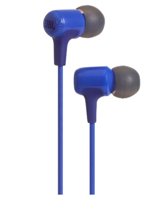 JBL E15 In-Ear Headphones with Mic, Blue