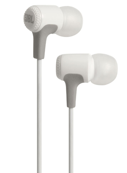 JBL E15 In-Ear Headphones with Mic, White