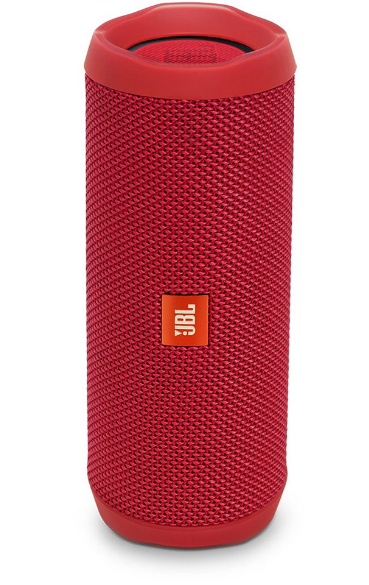 JBL Flip 4 Waterproof Portable Bluetooth Speakers, Red
