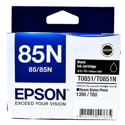 Epson 85N Ink Cartridge, Black