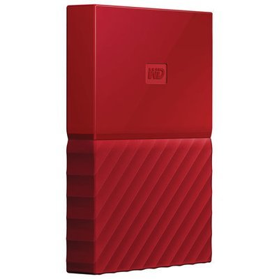 WD 1TB My Passport USB 3.0 External Hard drive, Red