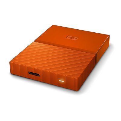 WD 1TB My Passport USB 3.0 External Hard drive, Orange
