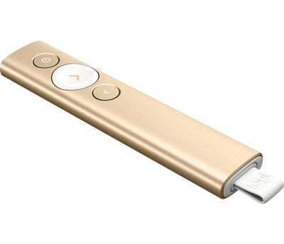 Logitech Spotlight Advanced Presentation Remote, Gold
