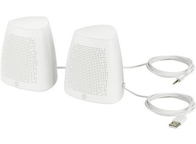 HP S3100 2.0 Speakers, White