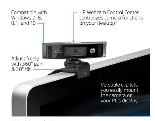 HP HD 4310 High definition 1080P Webcam