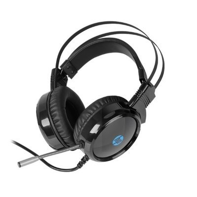 HP H120 Back-lit Gaming Headset with Mic , Black, 1QW67AA