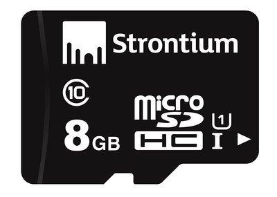 Strontium 8GB MicroSD Memory Card, Class 10