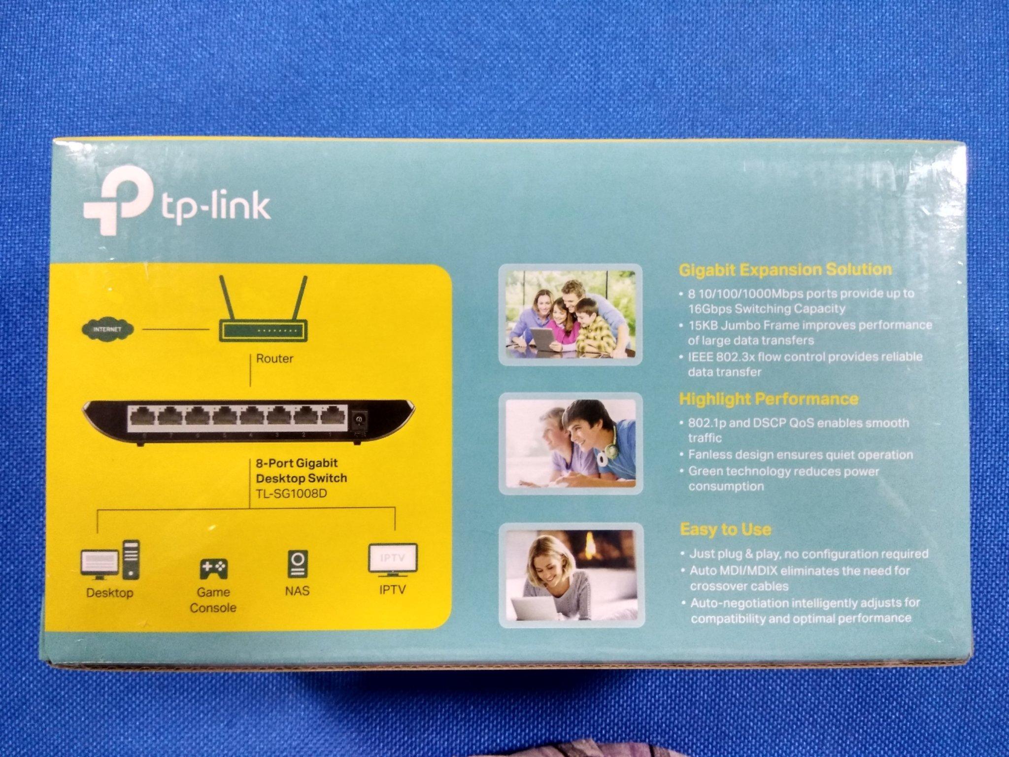 Tp Link 8 Port Gigabit Desktop Switch Sg1008d Tl Sg2008 Smart