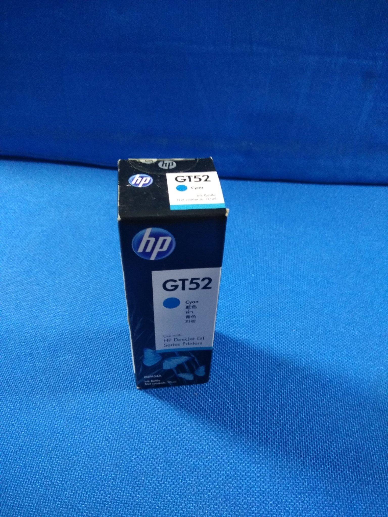 HP ink Bottle, GT 52, Cyan, 70ml, Rs 415