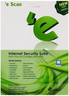 1 User, 1 Year, eScan Internet Security, V-11x