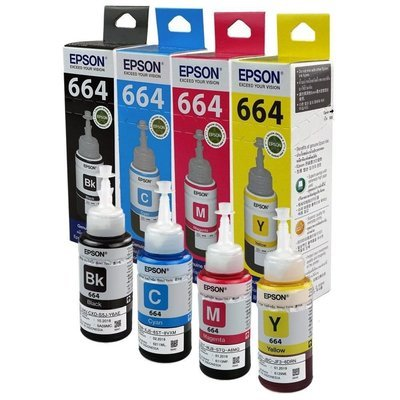 Epson ink Bottle, 664, For l385, l405, l455, l485, l550, l565, l1300