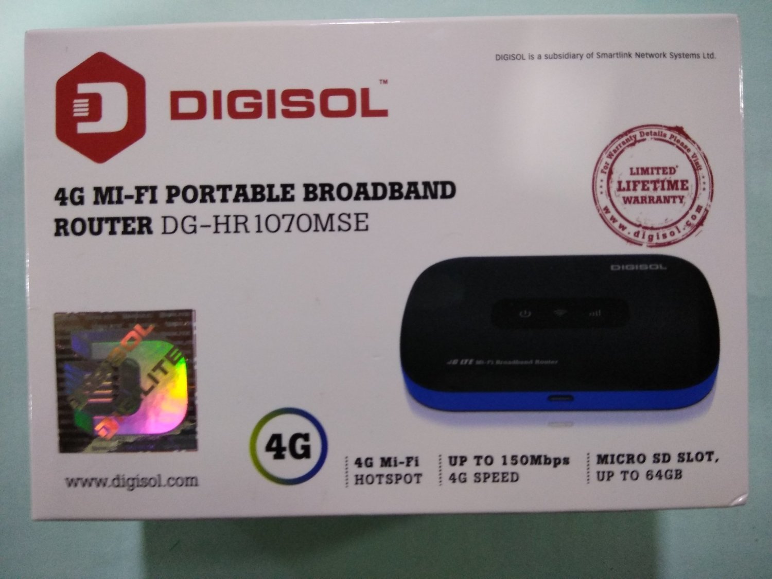 Digisol DG-HR1070MSE 4G Mi-Fi Portable Broadband Router, Rs 2828