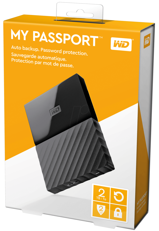 WD 2TB My Passport USB External Hard drive, Black